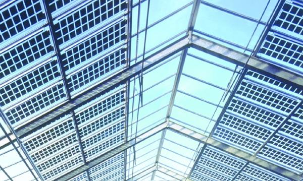 Photovoltaikanlage Palmenhaus